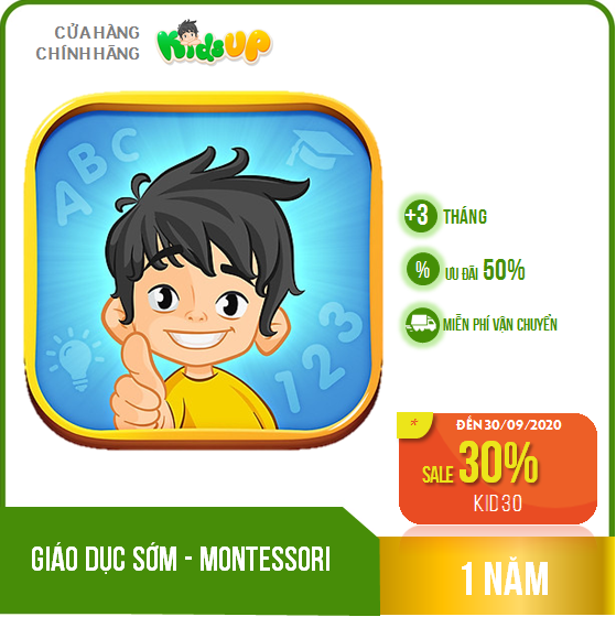 KIDS UP – 1 năm – Chương trình giáo dục sớm Montessori