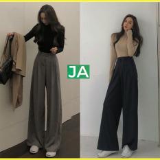 [CAM KẾT Y HÌNH+CHỌN MÀU] Quần tây ống rộng nữ lưng cao tôn dáng, quần ống rộng lưng cao siêu hot, quần tây nữ lưng cao ống rộng, quần tây ống rộng cạp cao mặc thoải mái hơn quần jean nữ, quần baggy nữ JAMS32