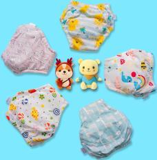 5 Quần bỏ bỉm Goodmama – bé gái, vải 100% cotton mịn mát giúp bé thông thoáng, không bị hăm tã như tã giấy