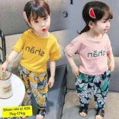 [2 BỘ 2 MÀU] Combo 2 Bộ SHAN Thái Sành Điệu Cho Bé Gái 8-18kg