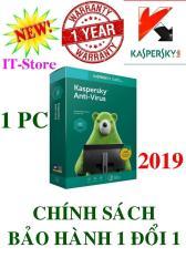 PHẦN MỀM DIỆT VIRUS KASPERSKY ANTI-VIRUS – 2019 – 1PC/Năm