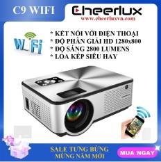 Máy chiếu mini Cheerlux C9 WIFI HD, độ sáng 2800 lumens, kết nối không dây với điện thoại Android, Iphone.