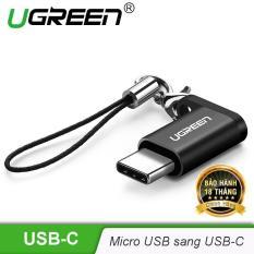 Đầu chuyển đổi Micro USB sang USB type C có hỗ trợ OTG dùng cho điện thoại di động Android UGREEN US278 50551 – Hãng phân phối chính thức