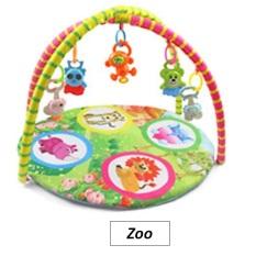 Thảm nằm chơi cho bé họa tiết động vật kèm đồ chơi giao màu ngẫu nhiên