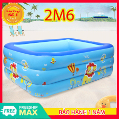 Bể bơi cho bé, hồ bơi cho bé, Bể bơi phao chống trơn đủ cỡ, Bể bơi, hồ bơi ,bể bơi mini 2m6 chất liệu PVC an toàn, đàn hồi cao, an toàn cho trẻ