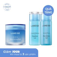 Mặt nạ ngủ dưỡng ẩm Laneige Water Sleeping Mask 70ml + Tặng 1 Nước hoa hồng Laneige 50ml + 1 Sữa dưỡng cân bằng Laneige 50ml