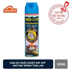 Chai Xịt Đuổi Chuột RAT OFF ANTI RAT SPRAY 200ml – Thái Lan