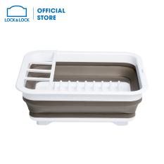 Kệ chén đĩa Lock&Lock có thể gấp gọn 363*309*57MM – màu trắng – LDR130WHT