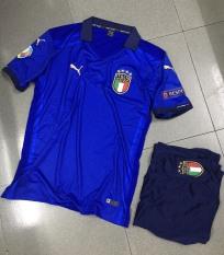 Bộ áo đấu Puma tuyển Ý xanh sân nhà Euro2020 đầy đủ logo
