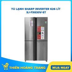 Tủ lạnh Sharp Inverter 626 lít SJ-FX630V-ST