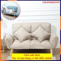 Ghế sofa lười, Sofa gấp gọn, Ghế lười sofa nhiều nấc gấp thông minh, chất liệu vải, đệm bông