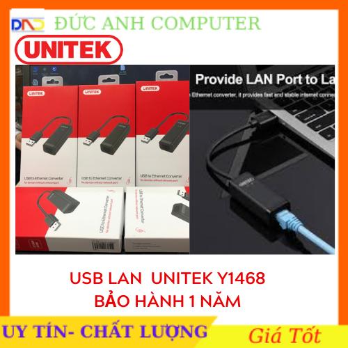 USB Lan 2.0 UNITEK Y1468 .Cáp USB 2.0 – LAN UNITEK (Y-1468)- Chính Hãng 100%, Bảo Hành 12 Tháng – 1 Đổi 1