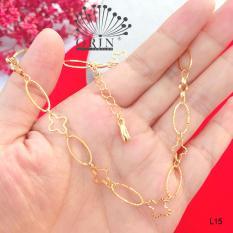 Lắc chân nữ mạ vàng thiết kế cao cấp Orin L15
