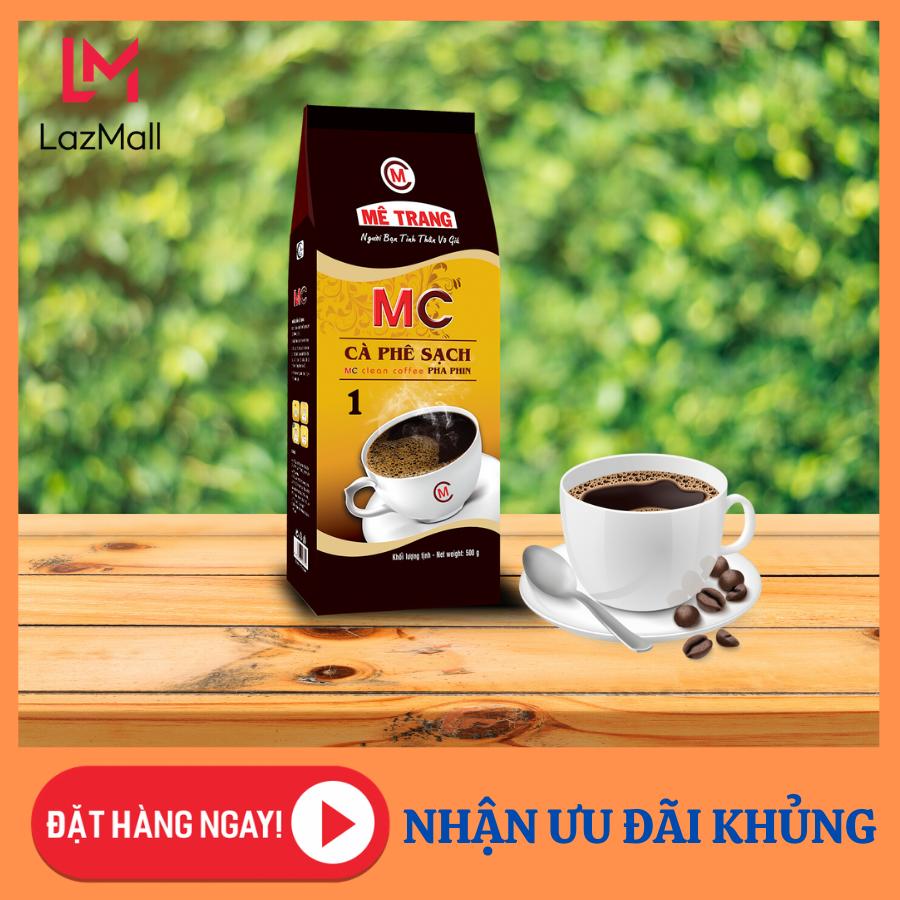 Cà Phê Sạch Mê Trang 1 (MC1) – Túi 500g Cà phê nguyên chất – pha phin