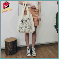 [GIÁ SỐC] Túi tote , túi xách , túi đeo vai vải canvas mềm quay liền nhiều mẫu mới phong cách Hàn Quốc mix đồ đi học , đi dạo , đi chơi ,cực chất