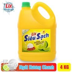 Nước Rửa Chén LIX 4KG Siêu Sạch Hương Chanh