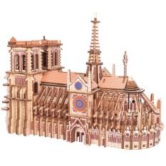 Đồ chơi lắp ráp gỗ 3D- mô hình Nhà Thờ Đức Bà- 239 mảnh ghép- cắt lazer