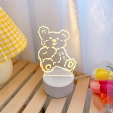 🎀SIÊU PHẨM🎀Đèn Ngủ 3D LED Xinh Xắn Để Bàn Cắm Điện Dây USB🎀