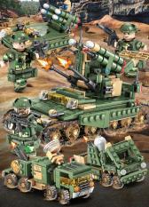 Đồ chơi lắp ráp xe tăng bộ 4 hộp