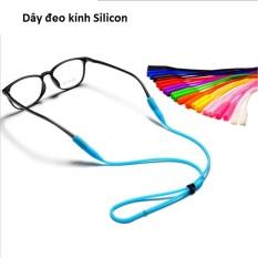 Dây đeo kính Silicon siêu bền siêu dai Nam nữ màu Đen