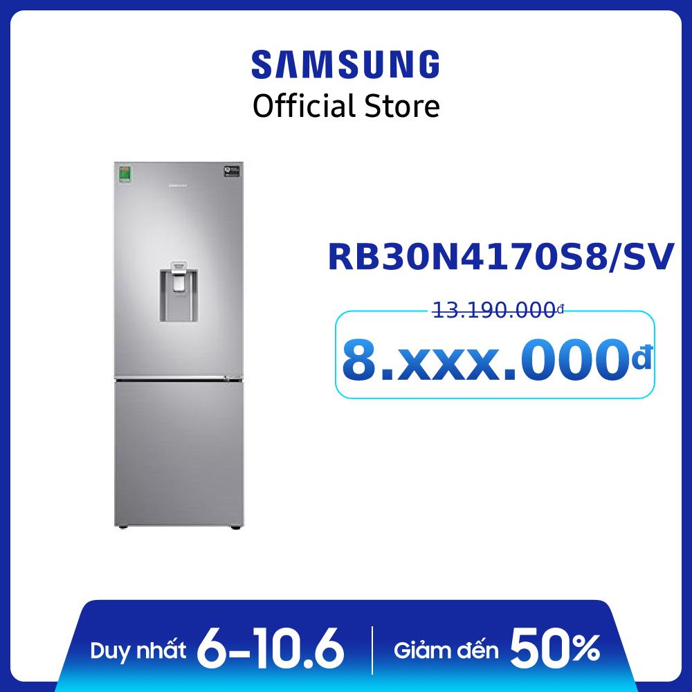 Tủ lạnh 2 cửa ngăn đông dưới Samsung Inverter 307 lít RB30N4170S8/SV – Hàng phân phối chính hãng, tiết kiệm điện