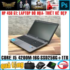 Laptop HP Probook 450 G1 – thiết kế đẹp mạnh mẽ ( i5-4200M, ram 16G,ssd 256g+ hdd 1TB, VGA Intel HD 4600, 15.6 inch HD)