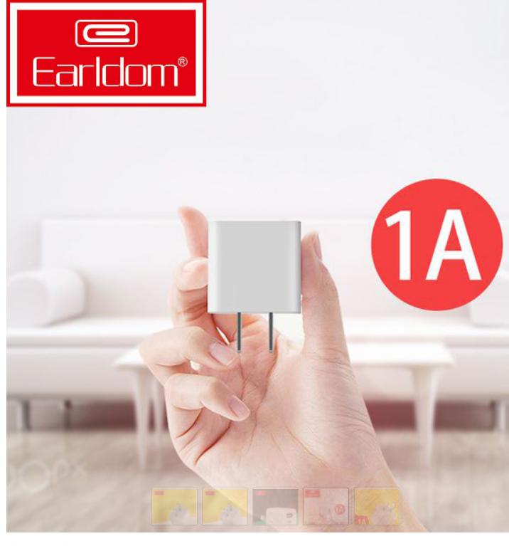Củ Sạc Cốc Sạc Earldom ES-170, dành cho Iphone, Samsung, Xiaomi, Oppo – Dòng Điện Chuẩn 5V-1A, Tránh Chai Pin, nhỏ gọn tiện lợi ( BẢO HÀNH UY TÍN 12 THÁNG 1 ĐỔI 1)