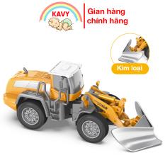 Đồ chơi mô hình xe ủi bằng sắt và nhựa nguyên sinh an toàn, các khớp chuyển động kích thích giác quan, đồ chơi trẻ em – KAVY