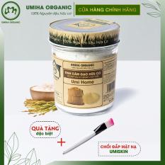 BỘT CÁM GẠO HỮU CƠ UMIHOME 125G nguyên chất làm đẹp thiên nhiên giúp tẩy da chết hiệu quả, dùng đắp mặt trắng da tự nhiên và ngăn ngừa thâm mụn