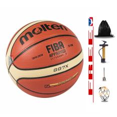 Banh bóng rổ da chuyên outdoor – Size 7 – Tặng Bơm + Balo rút + Kim Bơm + Túi lưới