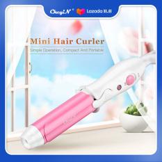 Ckeyin máy làm xoăn tóc xách tay nhỏ gọn 25mm, máy uốn tóc tạo kiểu tóc màu tím tiện dụng – INTL