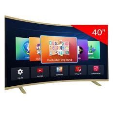 Smart TV Asanzo 40CV6600 40 inch (TV thông minh màn hình cong, HD, Tặng remote thông minh & USB list nhạc 12000 bài hát)