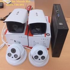 Trọn Bộ 4 Mắt Camera 3.0MP Công Nghệ Mới POE Cấp Nguồn Từ Dây Mạng Có Tích Hợp Mic Thu Tiếng + Tặng Kèm Ổ Cứng 500GB Và Dây HDMI 1.5m Để Kết Nối Xem Qua TV, Màn Máy Tính PC