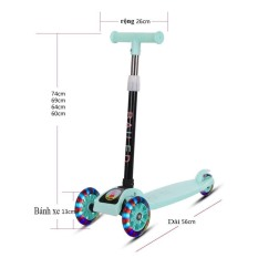 Xe scooter có bánh phát sáng, siêu đẹp, siêu bền. Phù hợp cho bé trai và bé gái.Màu hồng và màu xanh