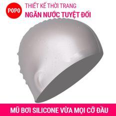 Nón bơi mũ bơi trơn silicone chống thống nước cao cấp CA31 POPO Collection