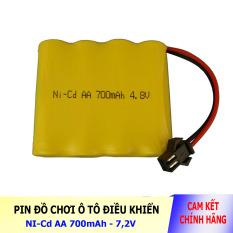 Pin Ni-Cd 4.8V 700mAh cổng SM dành cho xe đồ chơi ô tô điều khiển (vàng)