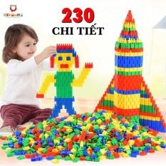 Đồ chơi trẻ em túi 230 hạt xếp hình nhựa nguyên sinh an toàn nhiều màu sắc giúp trẻ từ 3 tuổi trở lên phát triển trí tưởng tượng và tư duy sáng tạo
