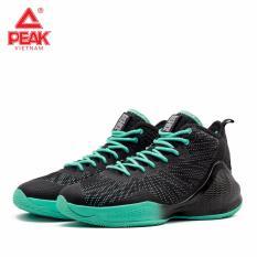 Giày bóng rổ PEAK Basketball Motive High E91061A – Đen Xanh
