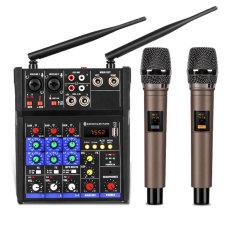 [ BAO ĐỔI TRẢ ]Trọn Bộ Mixer Yamaha G4 Bluetooth Tặng Kèm 2 Micro Không Dây, Kết Nối USB 2.0 Bluetooth, Dùng Cho Tất Cả Các Loại Công Suất Ampli, Nhỏ Gọn Mini Chuyên Nghiệp, Kết Hợp Với Các Dòng Ampli Để Hát Karaoke, Bảo Hành Uy Tín.
