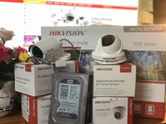 Trọn bộ 4 camera 2.0MP Đầu DS-7104HQHI-K1 Mắt DS-2CE56D0T-IRP + DS-2CE16D0T-IR Đã setup sẵn chỉ việc cắm chạy.