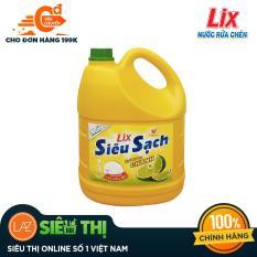 [Siêu thị Lazada] – Nước Rửa Chén Lix Siêu Sạch Hương Chanh 4kg