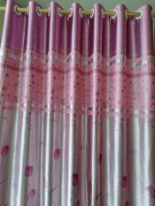 rèm cửa sô vải bóng cao cấp ép nhung Hoa Tuy Lip 1m x1.4 m