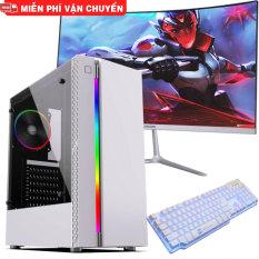 Bộ máy tính chơi Game MÀN HÌNH 27 IN CONG 24 IN CONG pc gaming siêu đẹp giá siêu tốt thùng led gaming – Chip intel core i5 i7 ram 8G ổ SSD điện tử vga rời cực mạnh