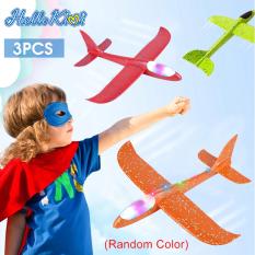 HelloKimi Đồ Chơi Giáo Dục Mô Hình Máy Bay Tàu Lượn Máy BayFoam Airplane Model EPP Foam Plane Hand Throw Glider Aircraft Airplane Toys Outdoor Sports Toys Flashing Luminous Airplane Educational Toys for Kids Best Gift