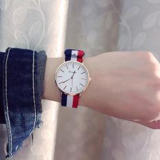 Đồng hồ thời trang Nam Nữ Geneva mặt tròn dây dù trẻ trung