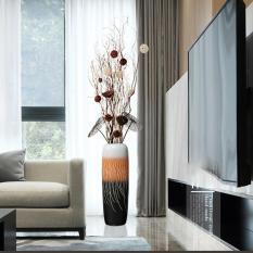 Bình hoa, lọ hoa gốm sứ tráng men decor để bàn trang trí nhà cửa, bàn ăn, bàn tiệc, trang trí phòng khách, trưng bày DH-BH0002