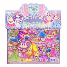 Set sticker dán 3D cao cấp phối đồ cho công chúa hottrend sinh động 2 lớp với nhiều mẫu đầm cùng các phụ kiện xinh yêu BBShine – ST004