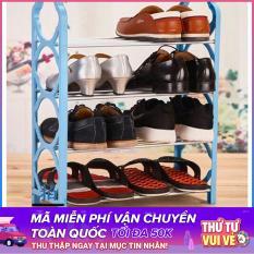 Kệ để giày dép 4 tầng ( Giao màu ngẫu nhiên )