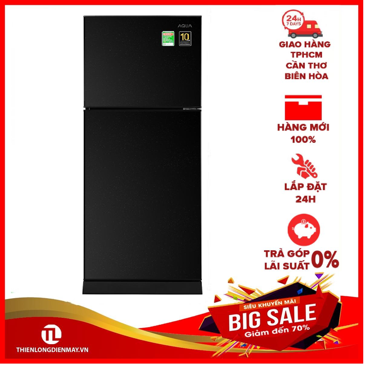[Trả góp 0%]Tủ lạnh Aqua Inverter 186 lít AQR-T219FA(PB)