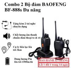 [COMBO] 2 Bộ Đàm 2 Chiều BAOFENG BF-888S – Tặng Kèm 2 Tai Nghe (Full Phụ Kiện)